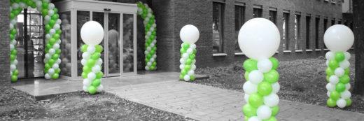 Ballonnen pilaar klein met top ballon