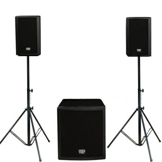 Grote geluidsset inclusief P.A rack