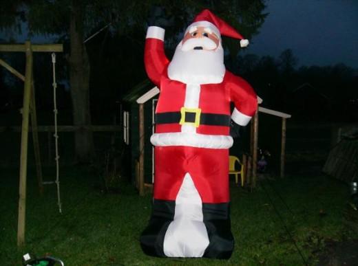 Opblaasbare kerstman