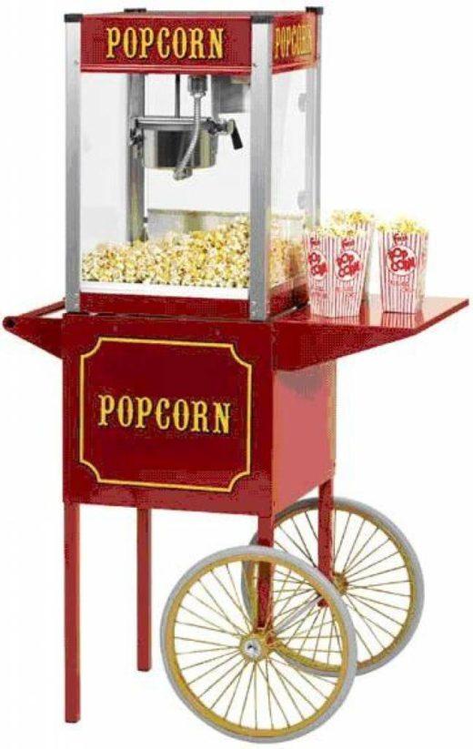 Professionele popcornmachine met onderstel